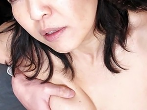 Mature Asian Sucks and Fucks