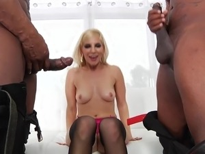 Ashley Fires interracial threeway tag team sex