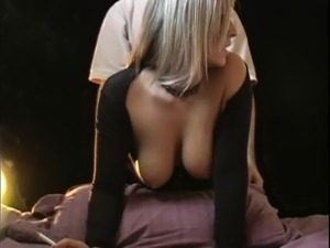 Beautiful blonde gets her peach pumped full of hard meat fr