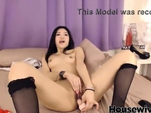 shy japanese school girl play with pussy