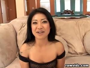 Asian Girl Rough Interracial Double Penetration Pounding