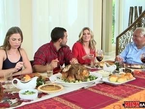 Moms Bang Teen  - Naughty Family Thanksgiving