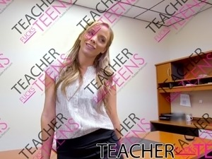 Teen squirt in teacher fucks student threesome