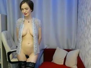 MILF does seductive striptease