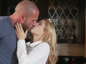 Blonde Latina Fucked By Older Guy & Sucks Him Off