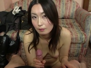 Japanese woman with straight black hair aspires to be a gravure model and is...