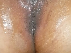 Gaping black pussy