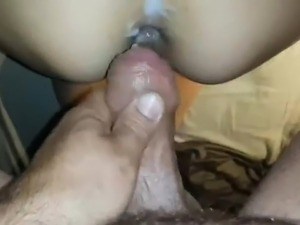 Amateur anal sex with creampie
