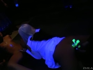 Horny Latina slut had steamy lesbian UV 3 some with two sinful nuns in the club