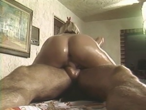 Vintage massage sex has an oiled and busty babe fucking