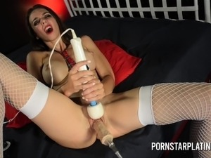 Naughtey School Girl Tiffany Tyler on Fucking Machine