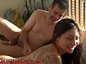 Shy Tattooed Girl Giggles With Cum On Ass First Porn Video