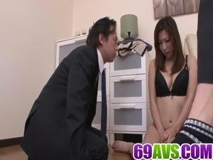 Av model Mirei Yokoyama goes nasty on a large dong
