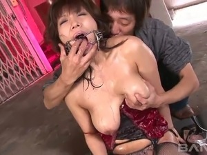 Sever geeks bang mouth of delicious Asian hottie tough