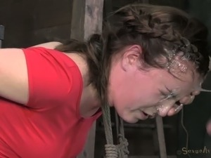 Tied up southern girl Jessie Parker is deepthroated hard