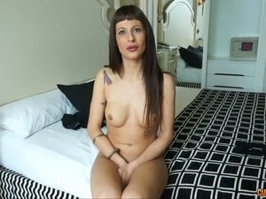 Dirty milf with tiny nipples  Lia M gives her head and plays with pussy