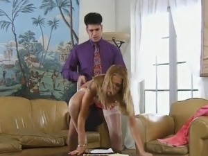 Jasmine is fucked up her asshole while wearing stockings