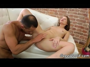 European babe receives cock from ass to mouth
