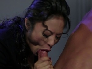 Striking brunette sex goddess are great at making a hunk's dick stiff