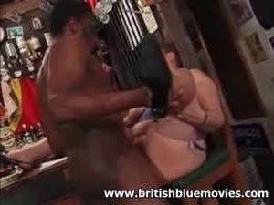 British Amateur BBW Milf take a Big Black Cock