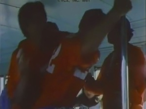 Cute classic blonde gives eager blowjob in the bus