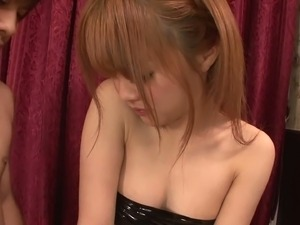 Jap skank Suzuka Ishikawa serving her man with hot blowjob and titjob