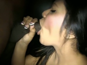 Awfully horny Asian chick wants to get really wild with my ebony cock