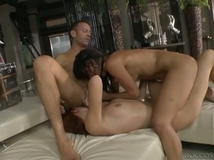 Perverted stud Rocco Siffredi puts his legendary cock to good use