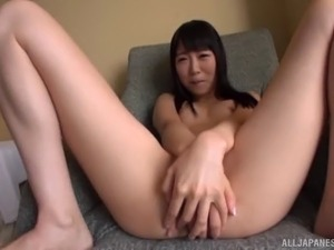 Gaping Japanese solo model stripteasing showcasing her pussy