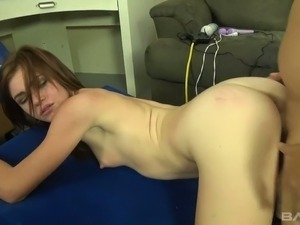 Whorish chick with small tits Emma Stoned gets fucked hard