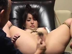 Subtitled bizarre Japanese BDSM anal play with enema