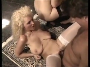 best bride, cum, stockings and saggy Tits
