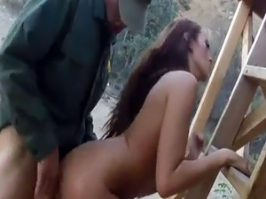 Amateur allure cumshot Brunette gets pulled over for a cavity search a